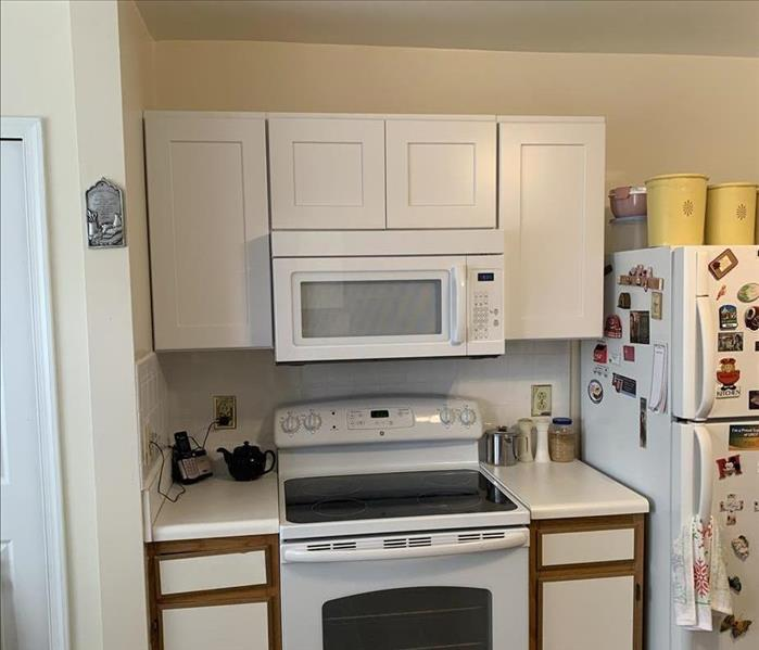 repaired kitchen and microwave