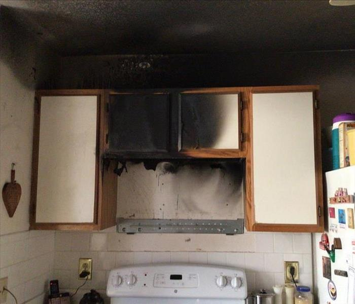 burnt walls from microwave