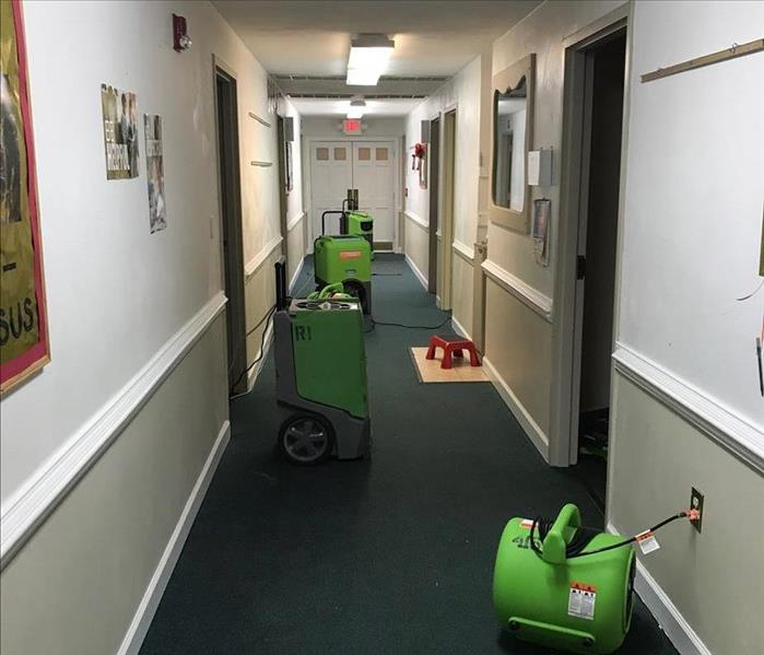 Water Damage in Suffolk School