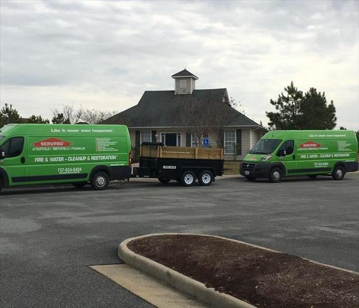 New vans on a job in Suffolk, VA