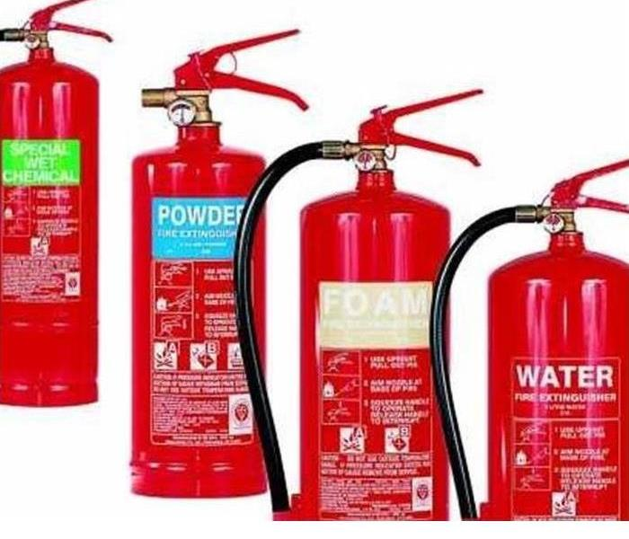 different fire extinguishers