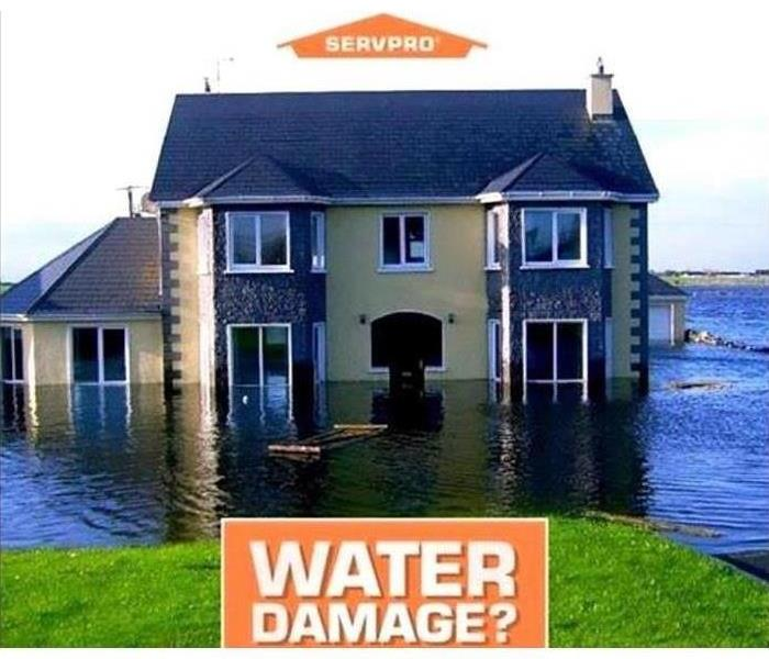 Home with water damage