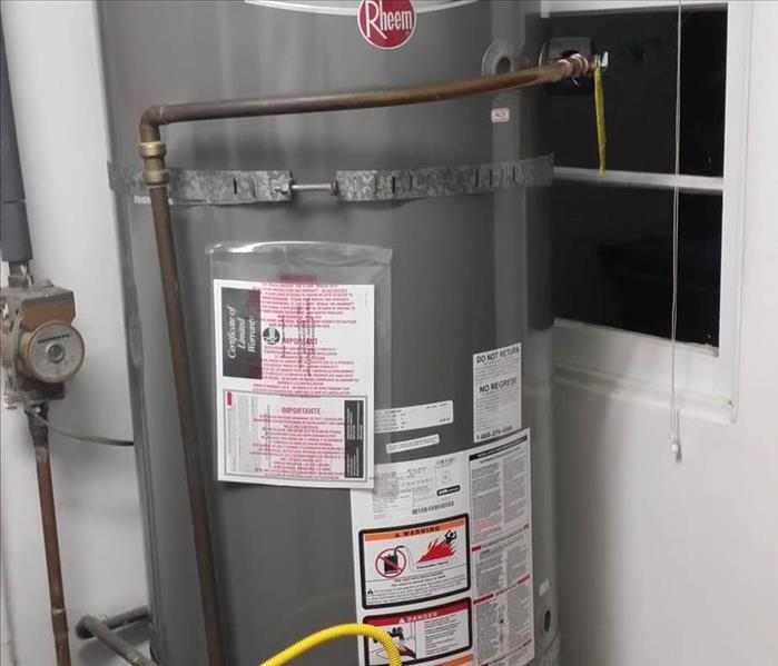 A commercial water heater